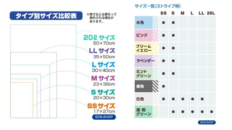 BOSサイズ比較表